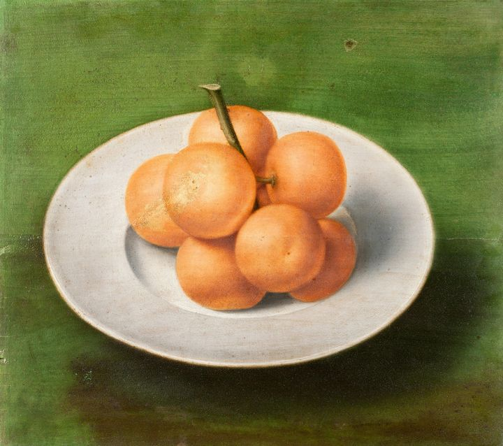 unknown~Still life with Oranges on a - Canvas printing