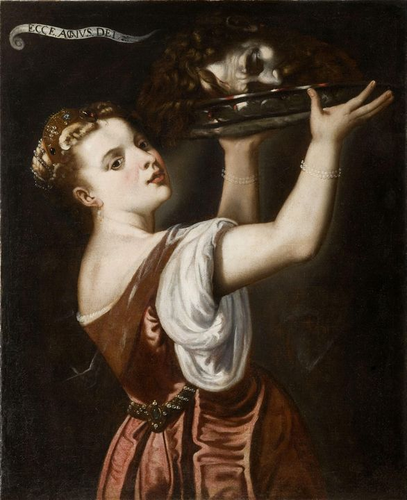 Unknow~Salome with the head of John - Canvas printing