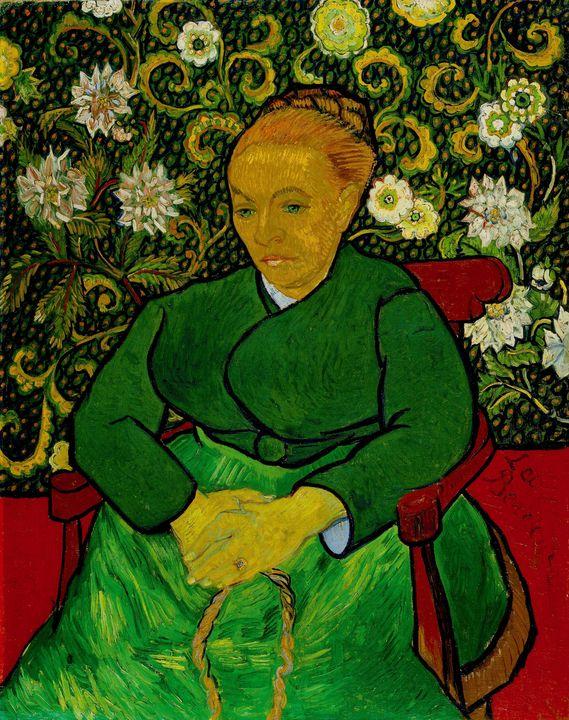 Vincent van Gogh~La Berceuse (portra - Canvas printing