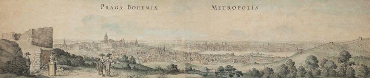 Václav Hollar~Great View of Prague - Canvas printing