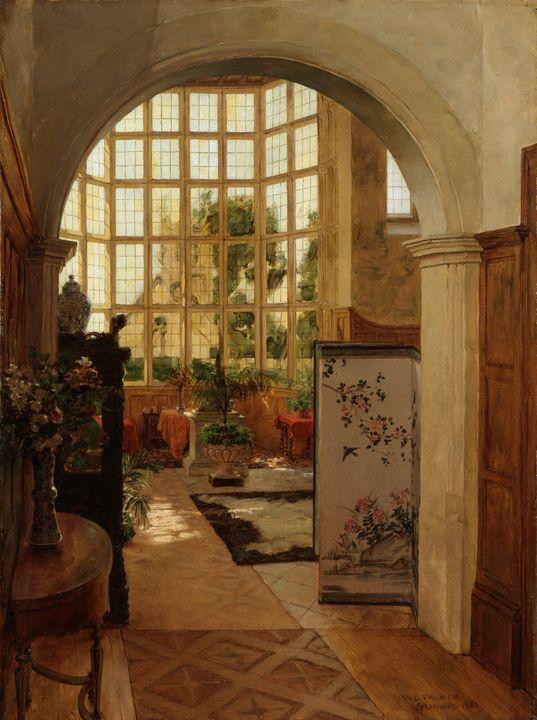 Walter Launt Palmer~Stanway Interior - Canvas printing