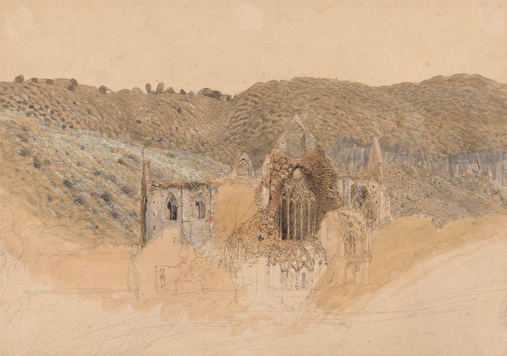 Samuel Palmer~Tintern Abbey - Canvas printing