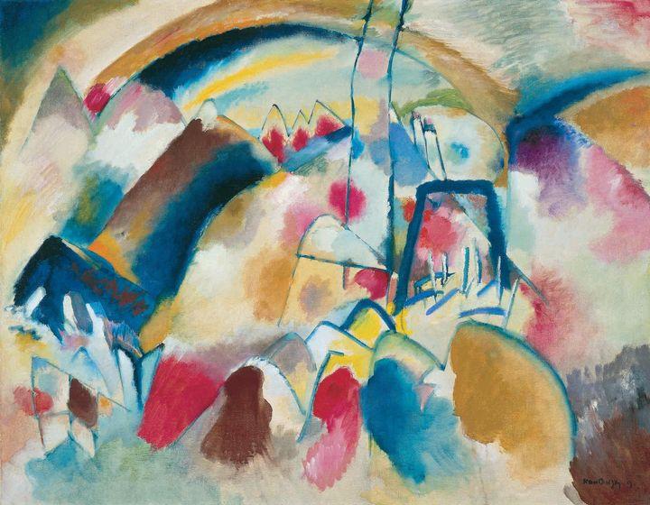 Wassily Kandinsky~Landscape with Chu - Canvas printing