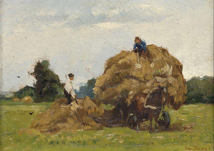 Willem de Zwart~Hay Wagon - Canvas printing
