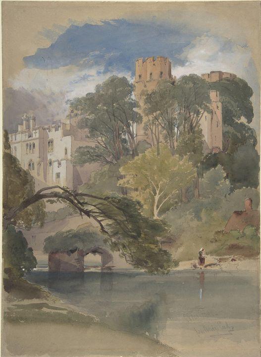 William Callow~Caesar's Tower, Warwi - Canvas printing