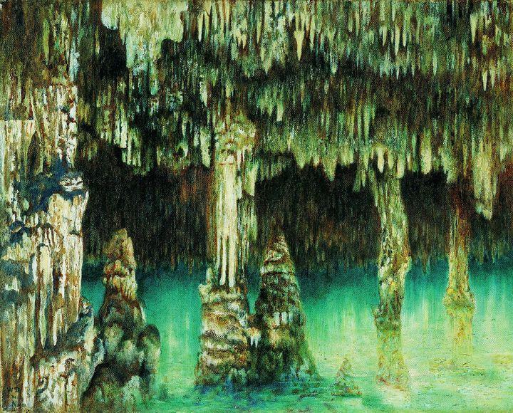 William Degouve de Nuncques~Caves of - Canvas printing