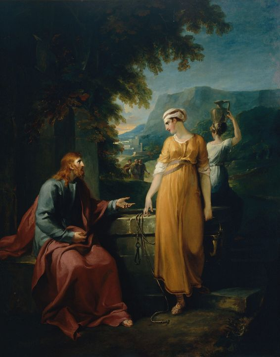 William Hamilton~Christ and the woma - Canvas printing