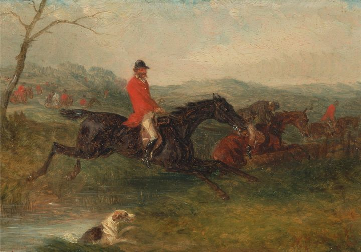 William J. Sayer~Foxhunting Clearing - Canvas printing