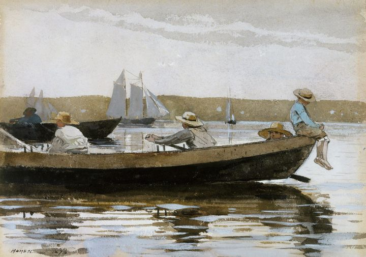 Winslow Homer~Boys in a Dory - Canvas printing