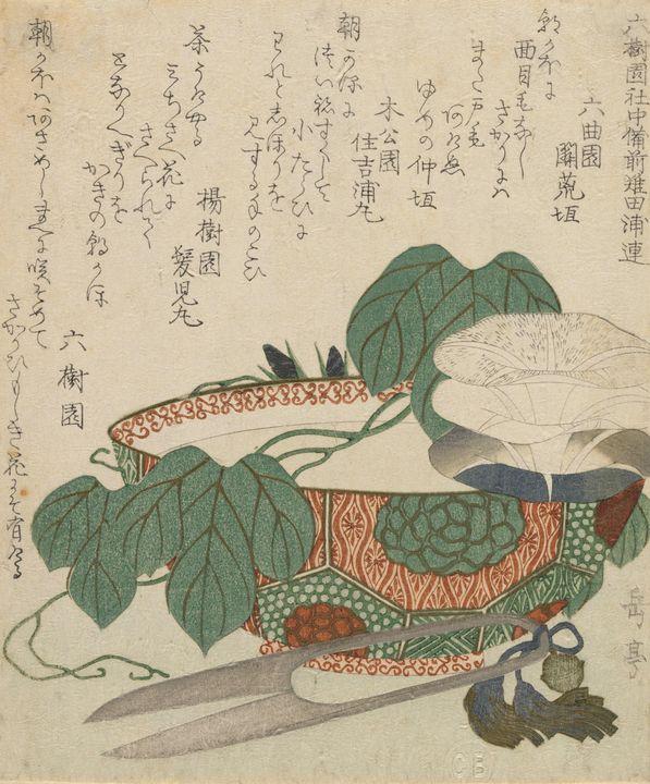 Yashima Gakutei~Morning Glories, Sci - Canvas printing