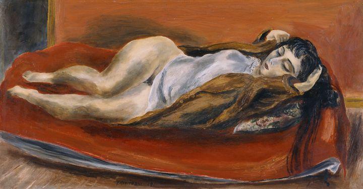 Yasuo Kuniyoshi~Woman Reclining - Canvas printing