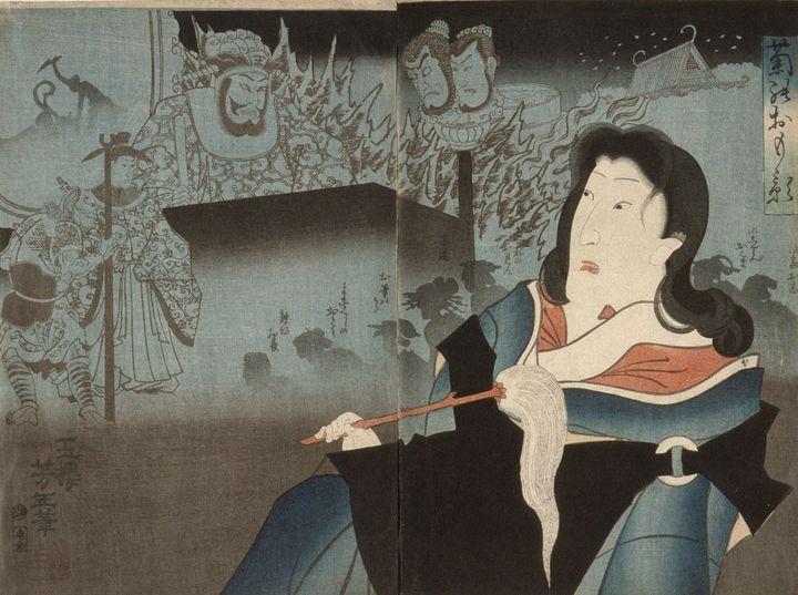 Yoshitoshi~A Memorial Portrait of On - Canvas printing