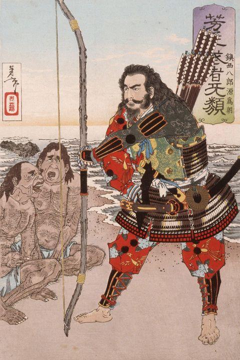 Yoshitoshi~Chinzei Hachirō Tametomo - Canvas printing