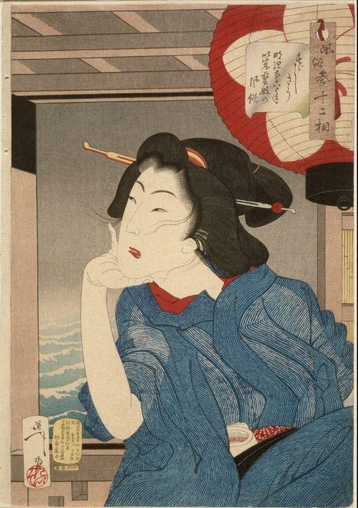 Yoshitoshi~Cool A Geisha of the Mid- - Canvas printing