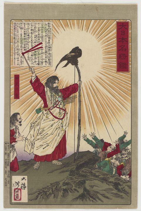 Yoshitoshi~Dai Nippon Meishō kan - Canvas printing
