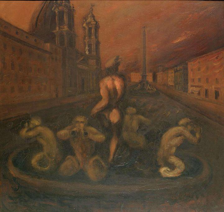 Scipione~Piazza Navona - Canvas printing