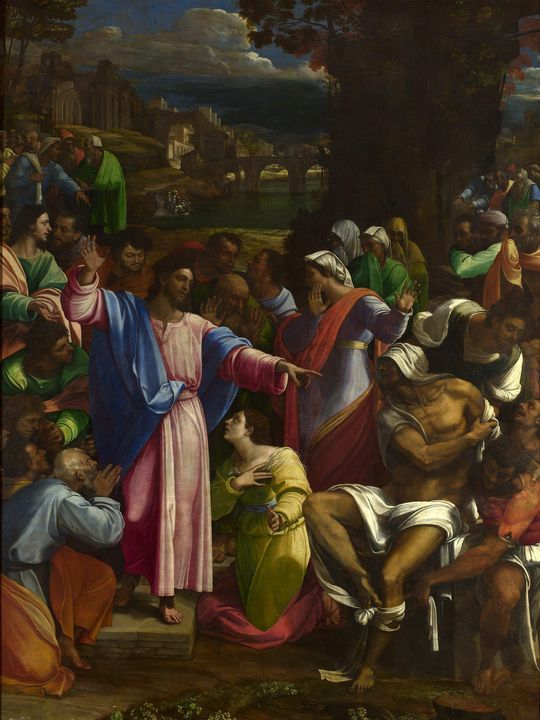 Sebastiano del Piombo~The Raising of - Canvas printing