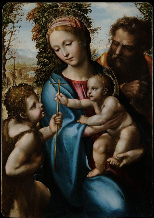 Il Sodoma~Holy Family with young Sai - Canvas printing