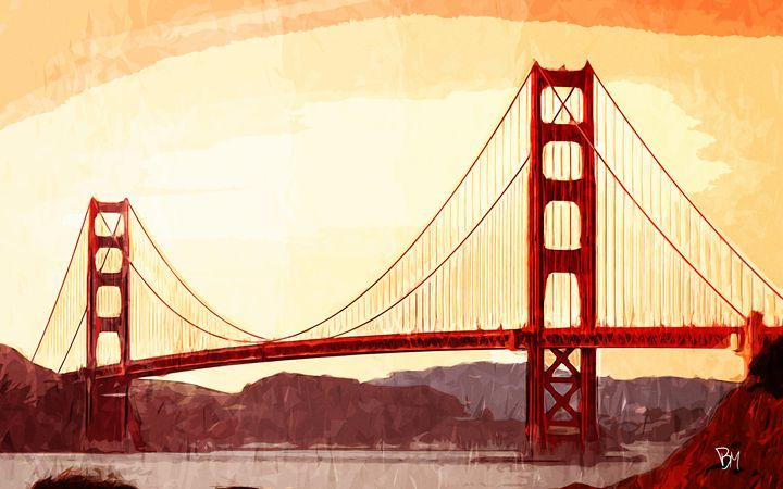 Sunset Bridge - Aer Prints