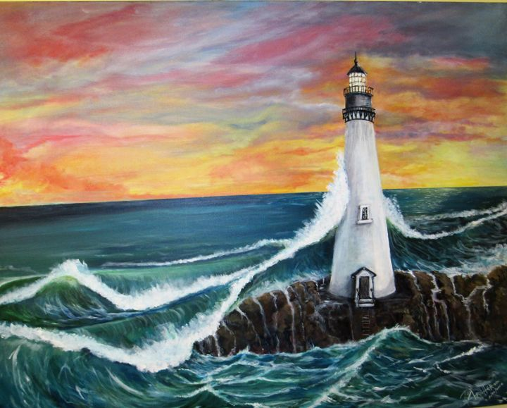 Lighthouse in  the storm - Tex Archer