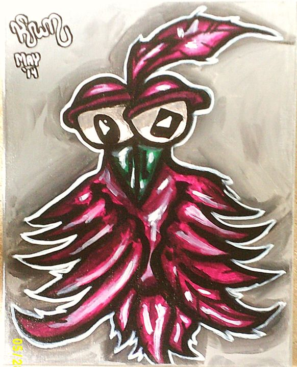 big-eyed bird - kwn