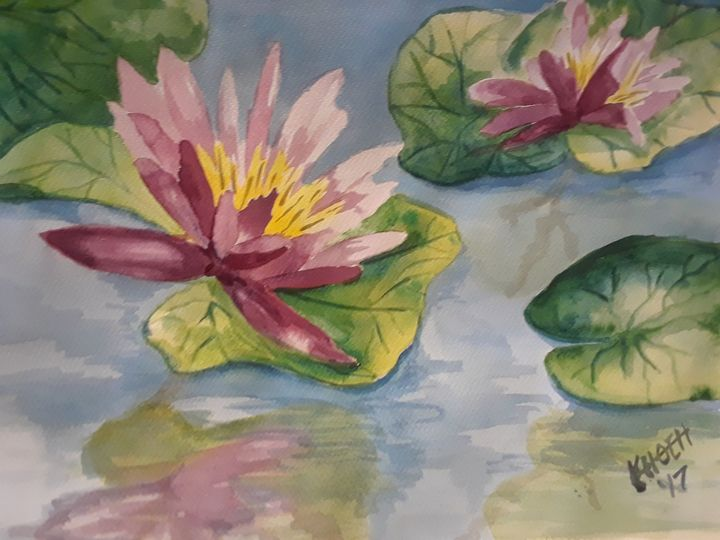 Waterlilies - Kristal Melody Art