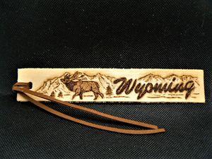 Leather Bugling Elk Bookmark