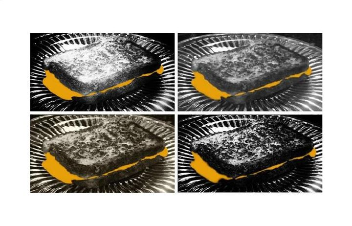 """""""The Grilled Cheese Sandwiches BW"""" - The Photography of Michael C Bertsch"""