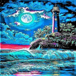 Lighthouse Night Moon - World Luxury Treasures