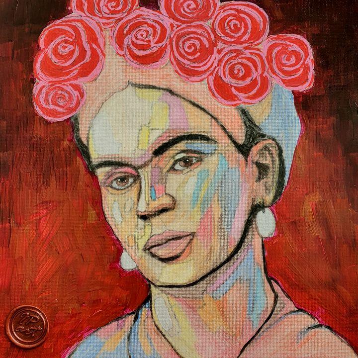 Portrait of Frida Kahlo - IrinaPetreArt