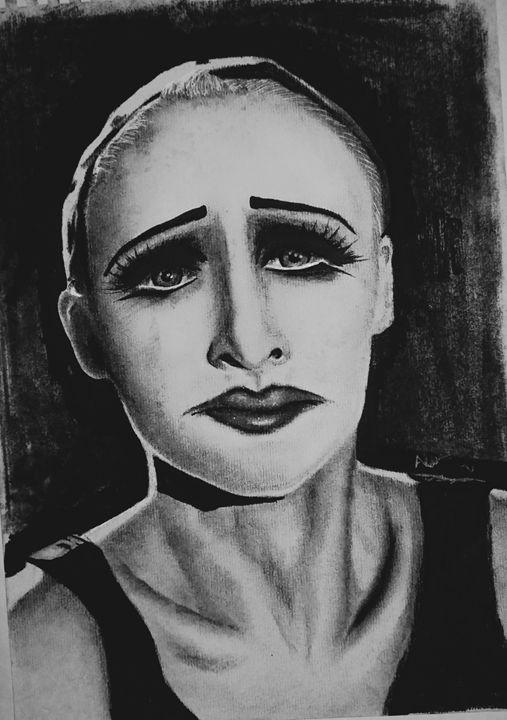 Charcoal/ garphite clown - A.H Artworks