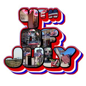3D 4th Of July Big Letter