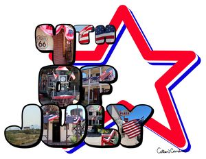 4th Of July Big Letter Star