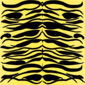 Tiger Skin Striped Pattern in Lemon
