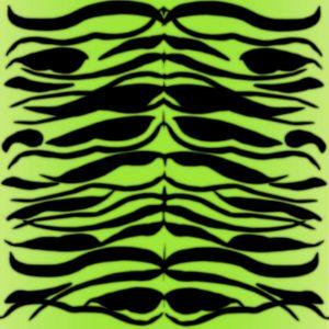 Tiger Skin Striped Pattern in Lime G