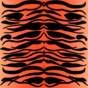 Tiger Skin Striped Pattern in Papaya