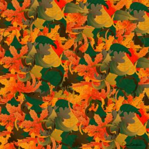 Falling Leaves Pattern for Autumn