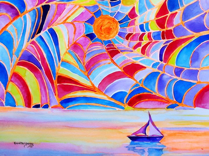 sailing into the web - Kevin's art gallery