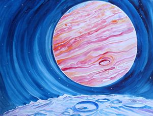 Jupiter's Moon, the ice moon....