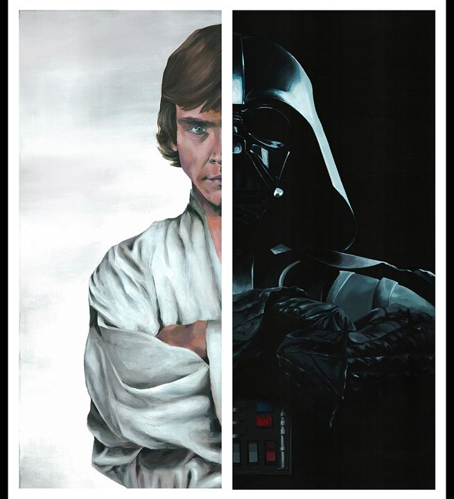 Skywalker diptych - Canvasteros, paintings for geeks