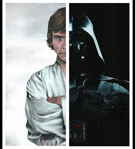 Skywalker diptych - Canvasteros, paintings for geeks