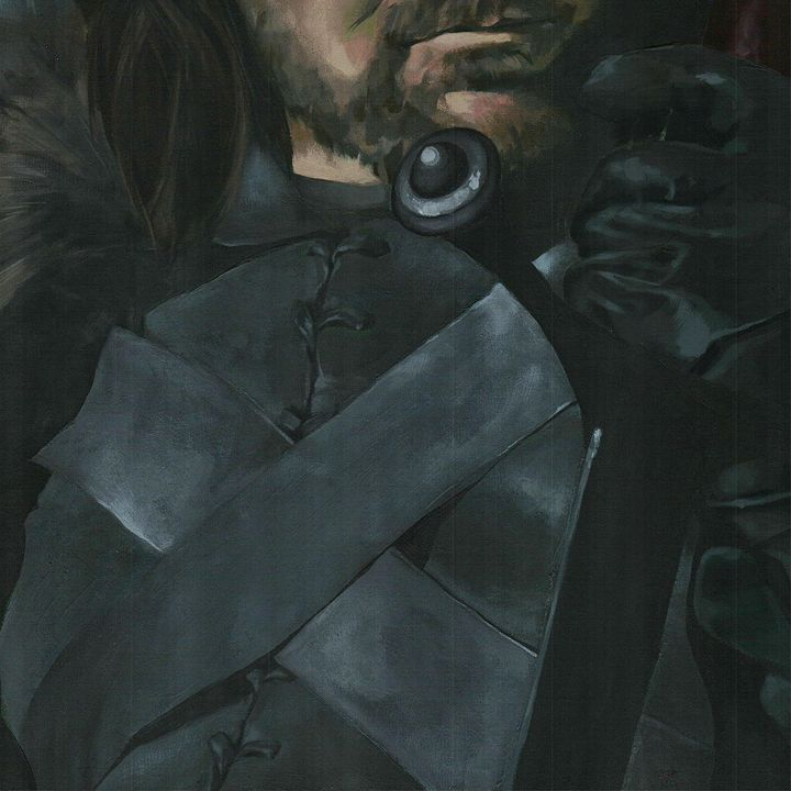 Eddard Stark, big portrait - detail - Canvasteros, paintings for geeks