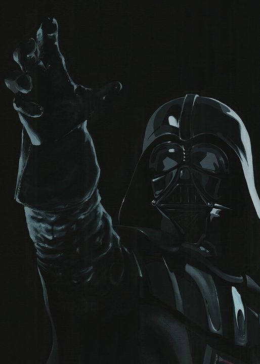 Live size Darth Vader - detail - Canvasteros, paintings for geeks