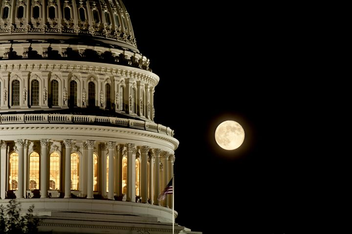 Capitol Dome Moon - Tim Schlabach Photography