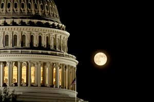 Capitol Dome Moon