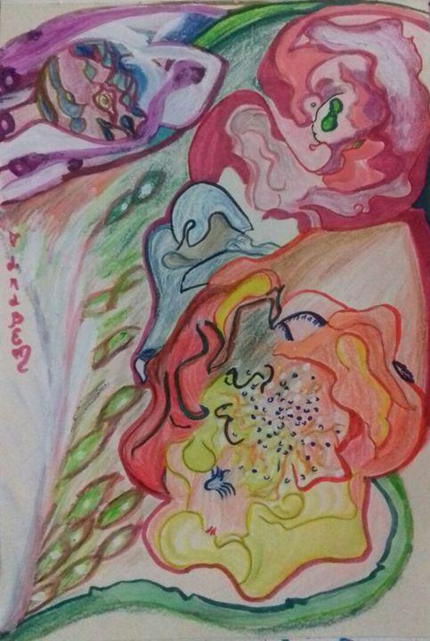 Figures in the flowers - Darabem artist