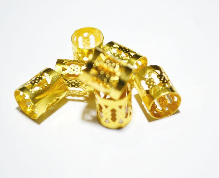 Dreadlock Beads 10 hair cuffs - Lulou Art Boutique