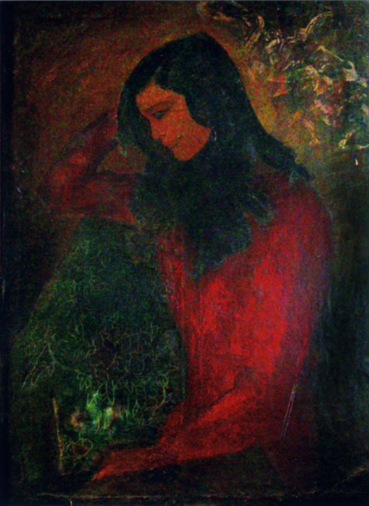 Vietnamese woman in war. - VietNam_Modern Art