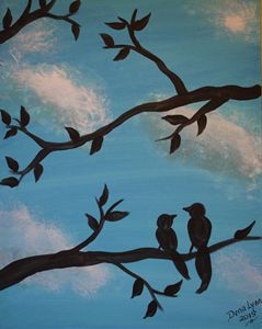 """Lovebird Silhouette"""