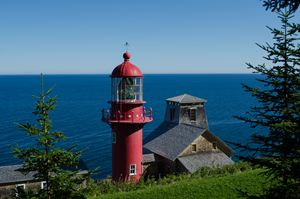 Lighthouse in Gaspe Quebec